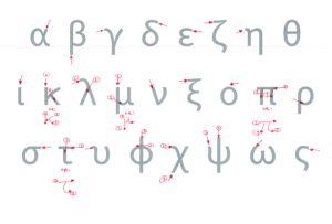Direction of Greek writing